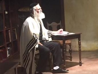 Steve as Rabbi Saunders like painting
