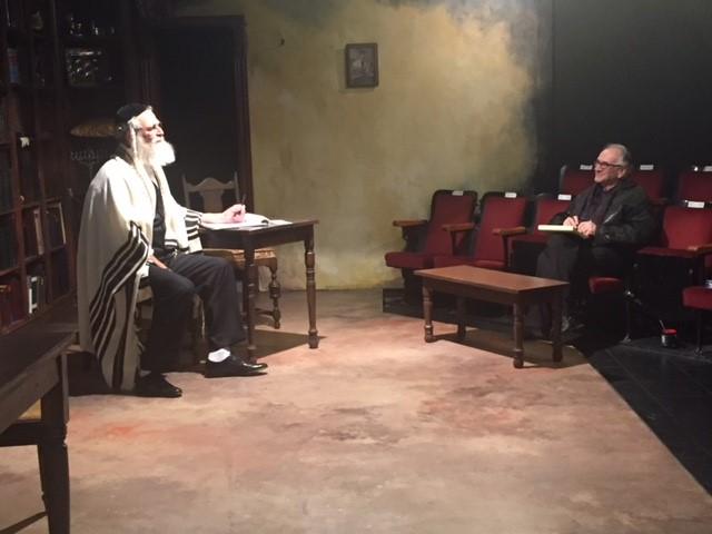 Steve as Rabbi Saunders with Simon Levy